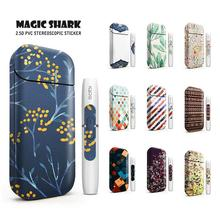 Magic Shark Bubble Flower Case Cover Film Sticker for IQOS 2.4 Plus for IQOS 2.4p Case Cover E Cigarette 4036-4045 new magic shark genuine leather business case for iqos e cigarette shell protective case cover bag for iqos black brown