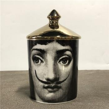 Lady Face Candle Holder Human Face Jar Candelabra Retro Storage Bin Ceramic Cafts Home Decoration Jewerlly Storage Box 22