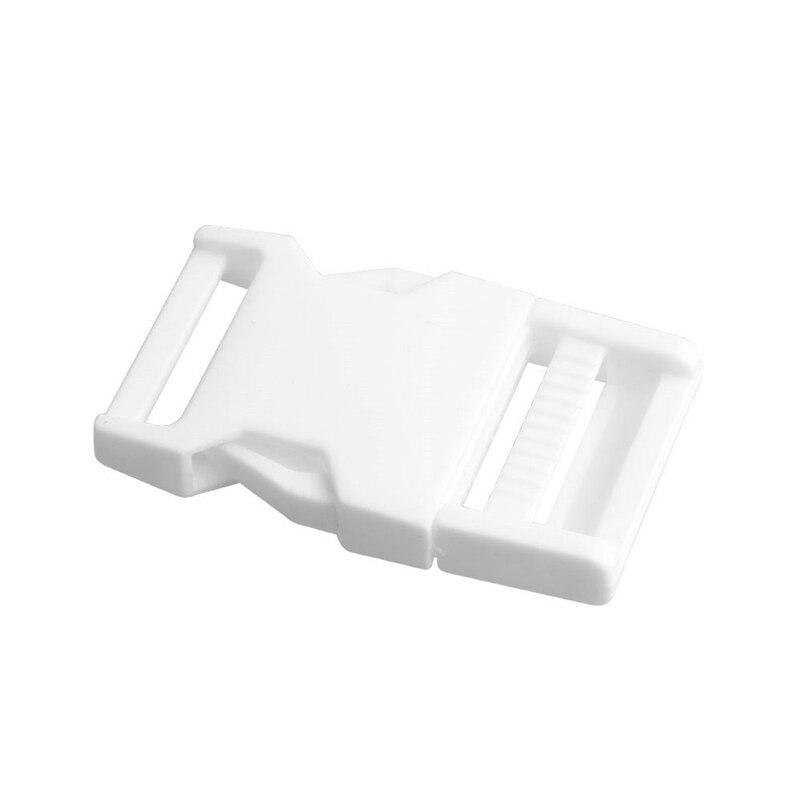 2 шт 25 мм Красочные пряжки ABS застежки для Паракорда браслет рюкзаки одежда сумки запчасти - Цвет: White