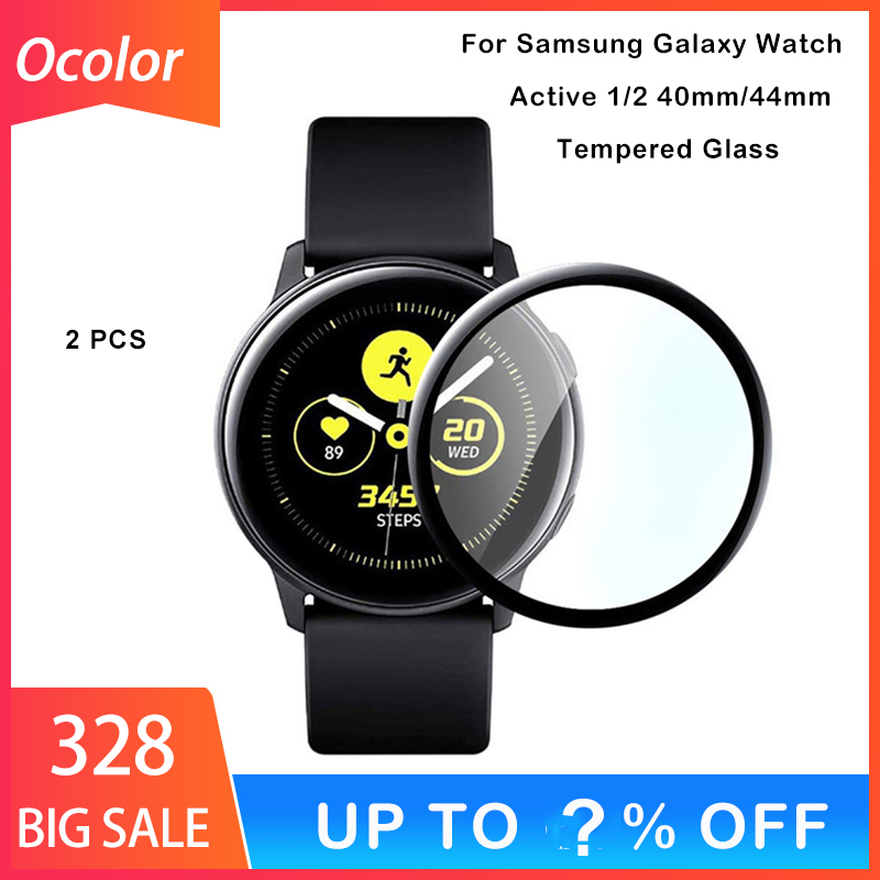 2 PCS Protective Film For Samsung Galaxy Watch Active 1 2 40mm 44mm Band SmartWatch Glass 3D Curved Screen Protector For Watch
