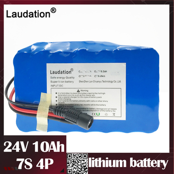 24v battery 10ah Lithium Ion Batterie 15A BMS 250W 24V 350W Batteria Pack for Electric Motor Kit Electric Power laudati