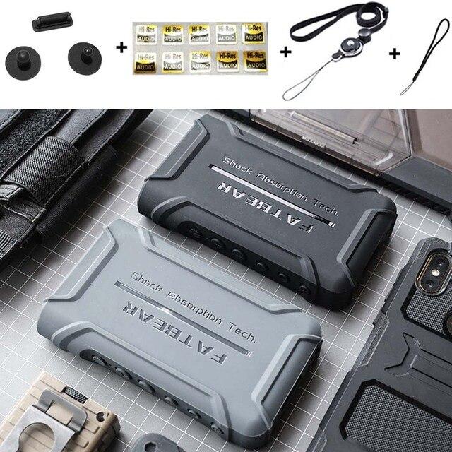 Anti Skid sağlam darbeye dayanıklı zırh tam koruyucu deli kılıf kapak için Sony Walkman NW WM1A WM1A NW WM1Z WM1Z toz fişi ile
