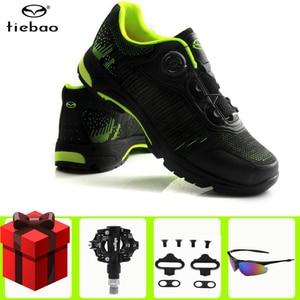 TIEBAO мужские кроссовки для горного велосипеда, велосипедные кроссовки с самоблокирующимся замком для езды на велосипеде