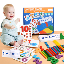 Wooden Mathematics Kids Early Educational Toys Wooden Digital Jigsaw Puzzle Counting Stick Number Game Toys Montessori Learning candice guo montessori match operate game colorful educational wooden toy mathematics digit figure stick 1set