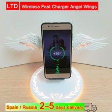 Wireless Fast Charger Angel Wings Smart Sensor Phone Holder For iPhone XS/XR Huawei P30 Pro Samsung Note 9/S10 Mi9
