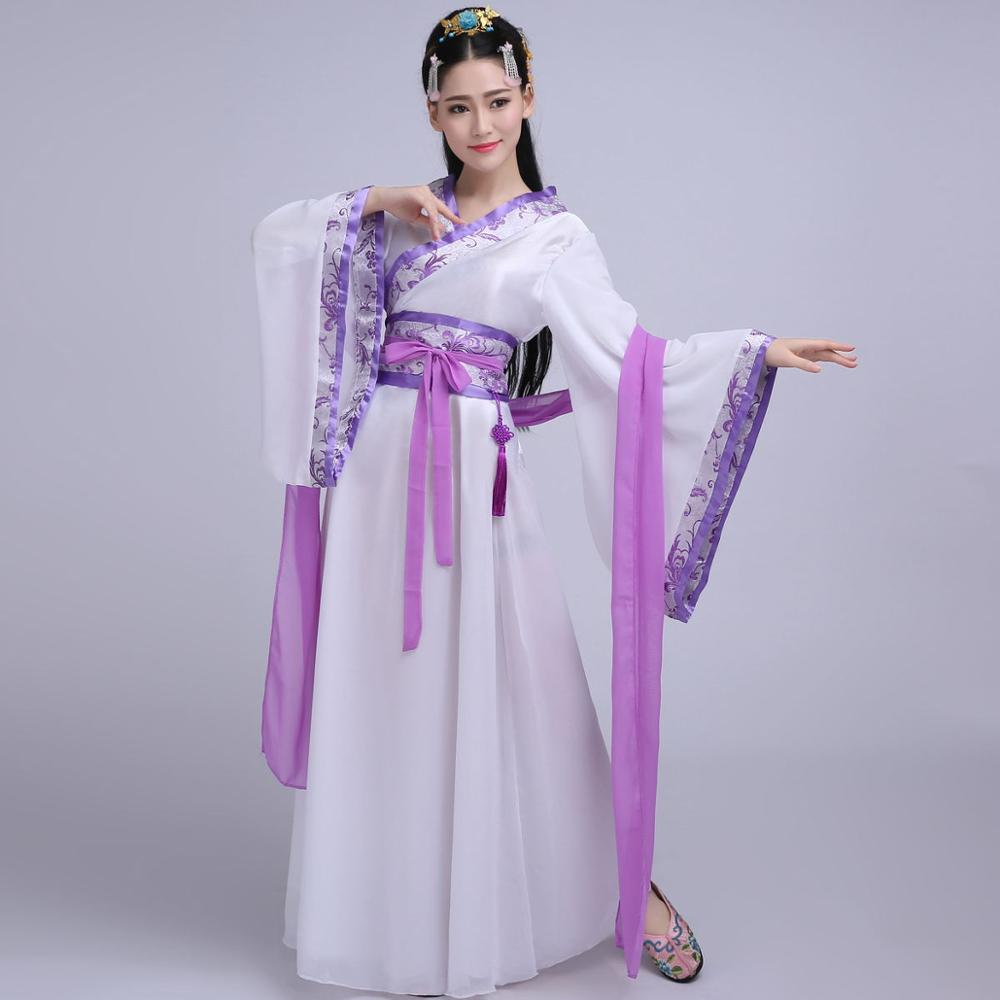 Chinese Traditional Fairy Costume Tang/Han Dynasty Traditional Clothing Ancient Princess Long Robe Purple Hanfu Cosplay DQL1857