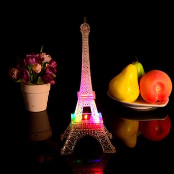 Romantyczna wieża eiffla LED lampka nocna biurko stół Home sypialnia udekoruj Gif ślubna dekoracyjna lampa na przyjęcie domowe tanie i dobre opinie CN (pochodzenie) Piramida Retro i nostalgia Stare meble Metal