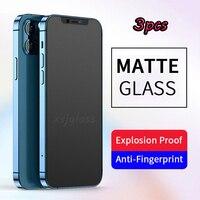 Vidrio Templado mate para iPhone, Protector de pantalla para el cuidado de los ojos, 9H, 2,5d, 11, 12 Pro, Max, 6 S, 7, 8 Plus, X, XR, X, S, Max, 3 unidades