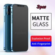 3Pcs 9H 2.5D Matte Gehard Beschermende Glas Voor Iphone 11 12 Pro Max 6 S 7 8 Plus X Xr X S Max Screen Protector Ogen Zorg Glas