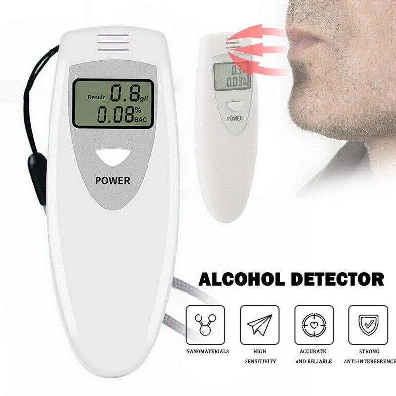 Handheld testador de álcool digital testador de álcool respiração álcool testador bafômetro analisador lcd detector luz de fundo