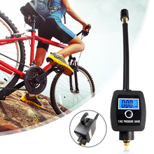 Портативный измеритель давления в шинах для велосипеда с высокоточным цифровым дисплеем экран для Presta /Schrader valve велосипедные аксессуары