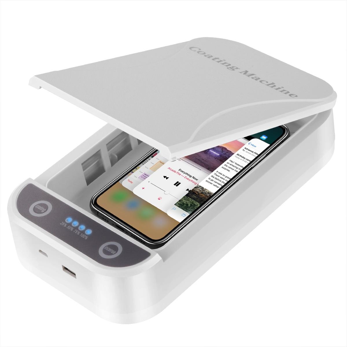 USB UV Sterilizer Box Portable Sterilizer Case UV Sterilizer Phone Disinfection Boxes Dual UV Lights For 6.5 Inch Smart Phones
