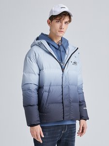 Image 2 - Pioneer Camp Fashion Gradient Down Jacket Men Brand Clothing White Duck Down Winter Hooded Zipper Mens coats  AYR903415