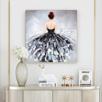 Classical Dancer Abstract Oil Painting Printed on Canvas 1