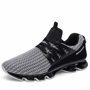 Image 2 - Модные мужские кроссовки Heidsy размера плюс 48, повседневная обувь, сетчатые мужские туфли на шнуровке, легкие дышащие мужские кроссовки для тренировок