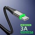Кабель USB-Type C для телефонов iPhone Android с подсветкой