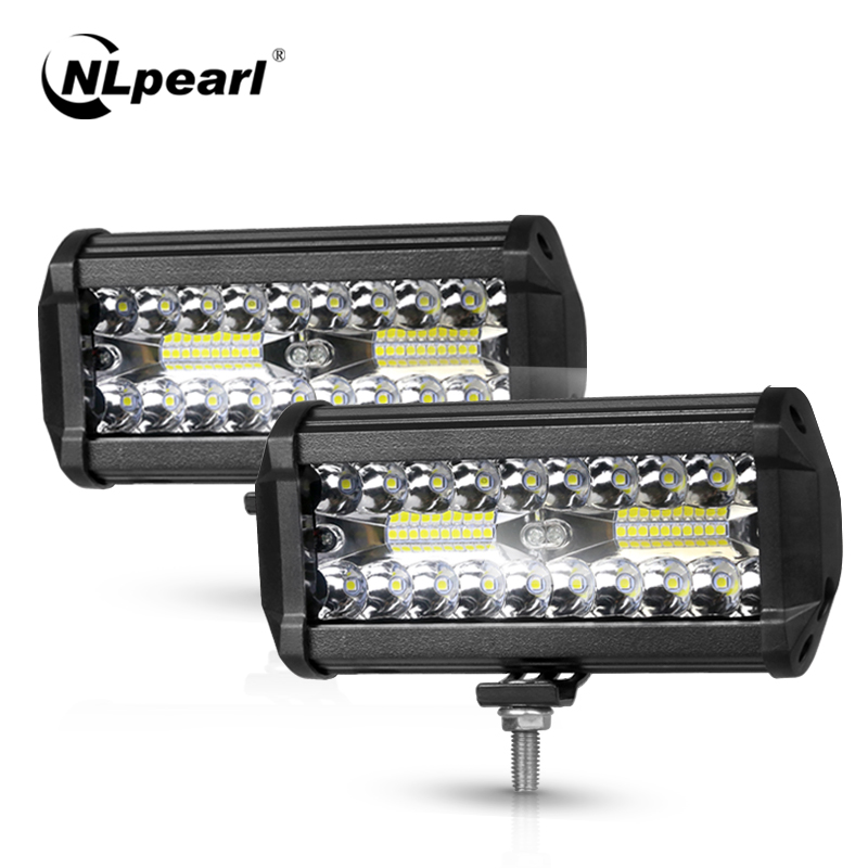 Nlpearl 4/7inch Light Bar/Work Light 60W 120W Led Bar Offroad Spot Beam Led Work Light For Tractor Truck 4x4 SUV ATV 12V 24V