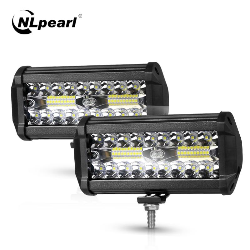 Nlpearl 4/7inch Light Bar/Work Light 60W 120W Led Bar Offroad Spot Beam Led Work Light For Tractor Truck 4x4 SUV ATV 12V 24V