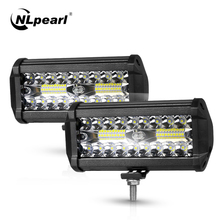 Nlpearl 4/7inch Light Bar/Work Light 60W 120W Led Bar Offroad Spot Beam Led Work Light for Tractor Truck 4x4 SUV ATV 12V 24V car led light bar work lamp 6 x 3w auto headlight spot beam light for offroad tractor suv truck boating hunting car styling