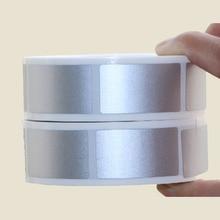1000 Stuks 23X42Mm Zilver Goud Lijm Scratch Off Stickers Diy Handleiding Label Tape Bekrast Kaart Film In roll