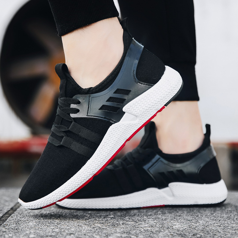 New Style Korean-style Fashion Men Athletic Shoes Versatile Comfortable Lace-up Casual Shoes