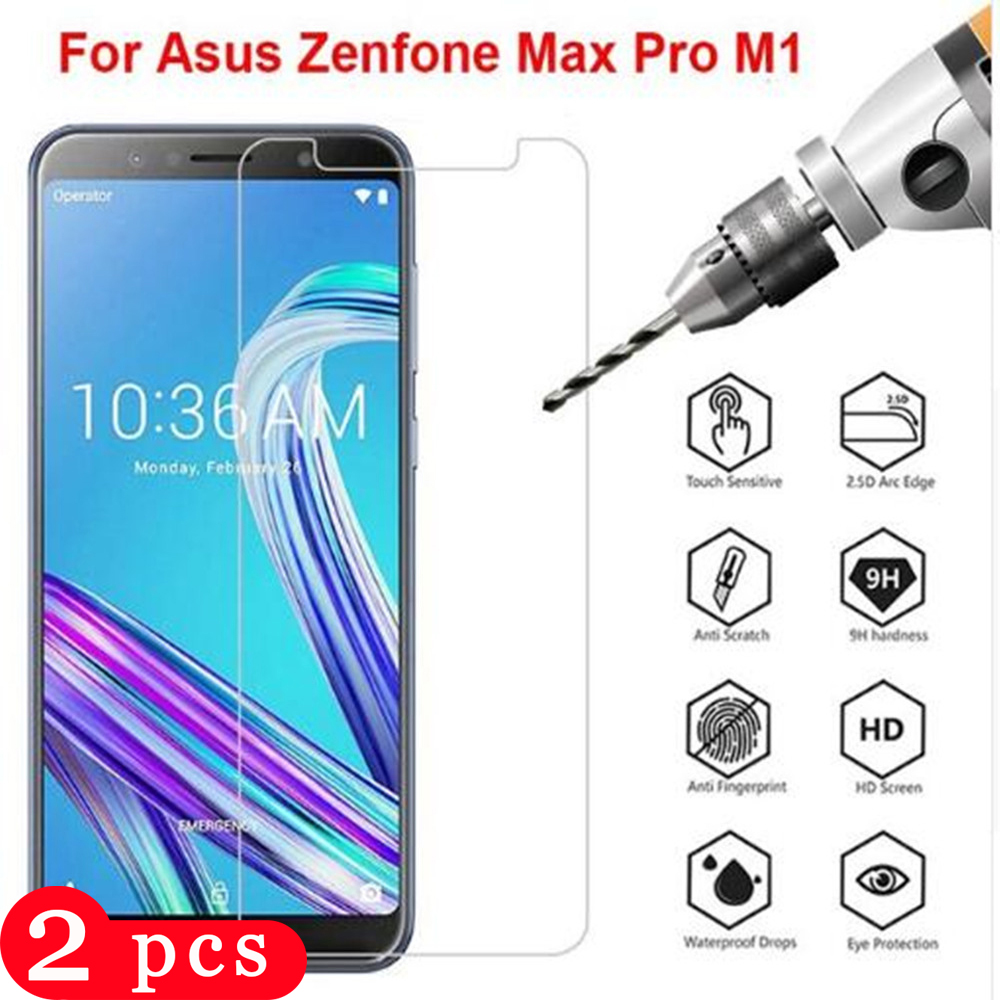 2Pcs For Asus Zenfone Max Pro M2 ZB631KL M1 ZB601KL ZB602KL Tempered Glass Phone Screen Protector Protective Film Smartphone