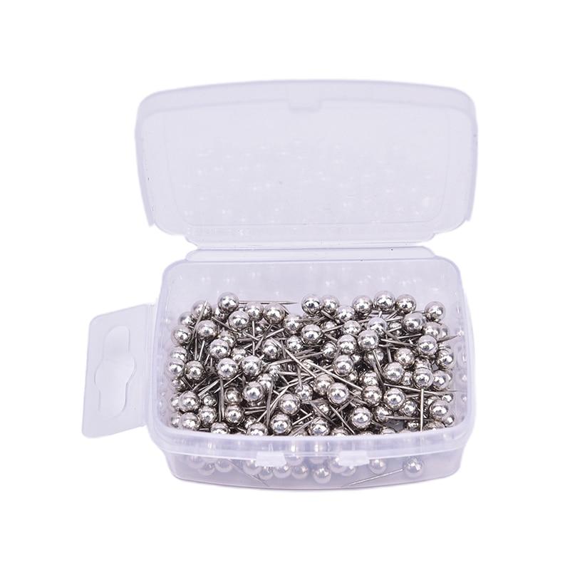 200pcs/lot  Metal Ball Head Pins Decorative Push Thumbtacks Steel Point Bulletin Board  5