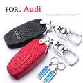 Новый чехол для автомобильного ключа из воловьей кожи для Audi a1 A3 a4 a5 a6l a7 a8 q3 q5 Q7 настраиваемый чехол для телефона с номером ключа автомобильн...