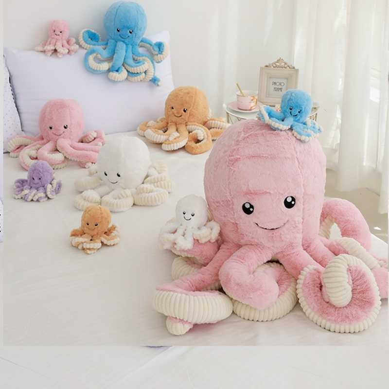 1pc 18-80cm Lovely Simulation octopus Pendant Plush Stuffed Toy Soft Animal Home Decoration Cute Animal Dolls Children xmas Gift