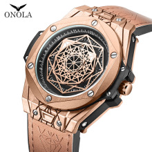 ONOLA Creative designer quartz man watch 2019 new top luxury brand waterproof ro