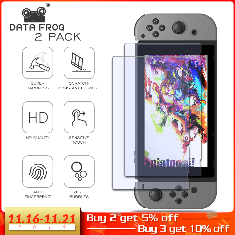 DATA FROG Screen Protector For Nintend Switch 9H Tempered Glass Screen Protector For Nintend Switch NS Console Accessories