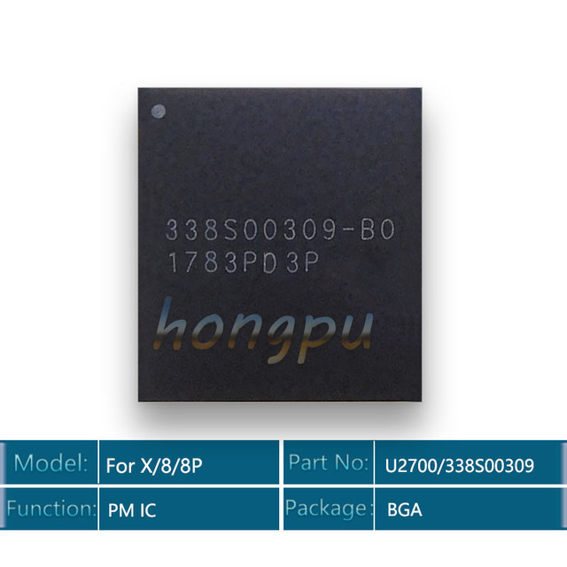 10 pz/lotto 100% Nuovo U2700/338S00309 B0 PMIC PMU Per iPhone 8/X/8 Plus/8 Più più grande Big Principale Chip di Gestione Dellalimentazione IC