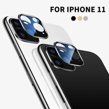 For iPhone 11 Pro Max Back Camera Metal Ring Case 360 Full Cover Rear Lens Screen Protector for iPhone11 Protective