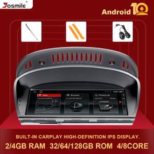 IPS2GB z systemem Android 10 samochodów Multimedia radiowe dla BMW serii 5 3 E60 E61 E62 E63 E90 E91 CIC CCC GPS nawigacja Stereo ekran jednostka główna tanie tanio Josmile CN (pochodzenie) podwójne złącze DIN 8 8 cala 4*45W System operacyjny Android 10 0 JPEG VIDEO CD plastic metal