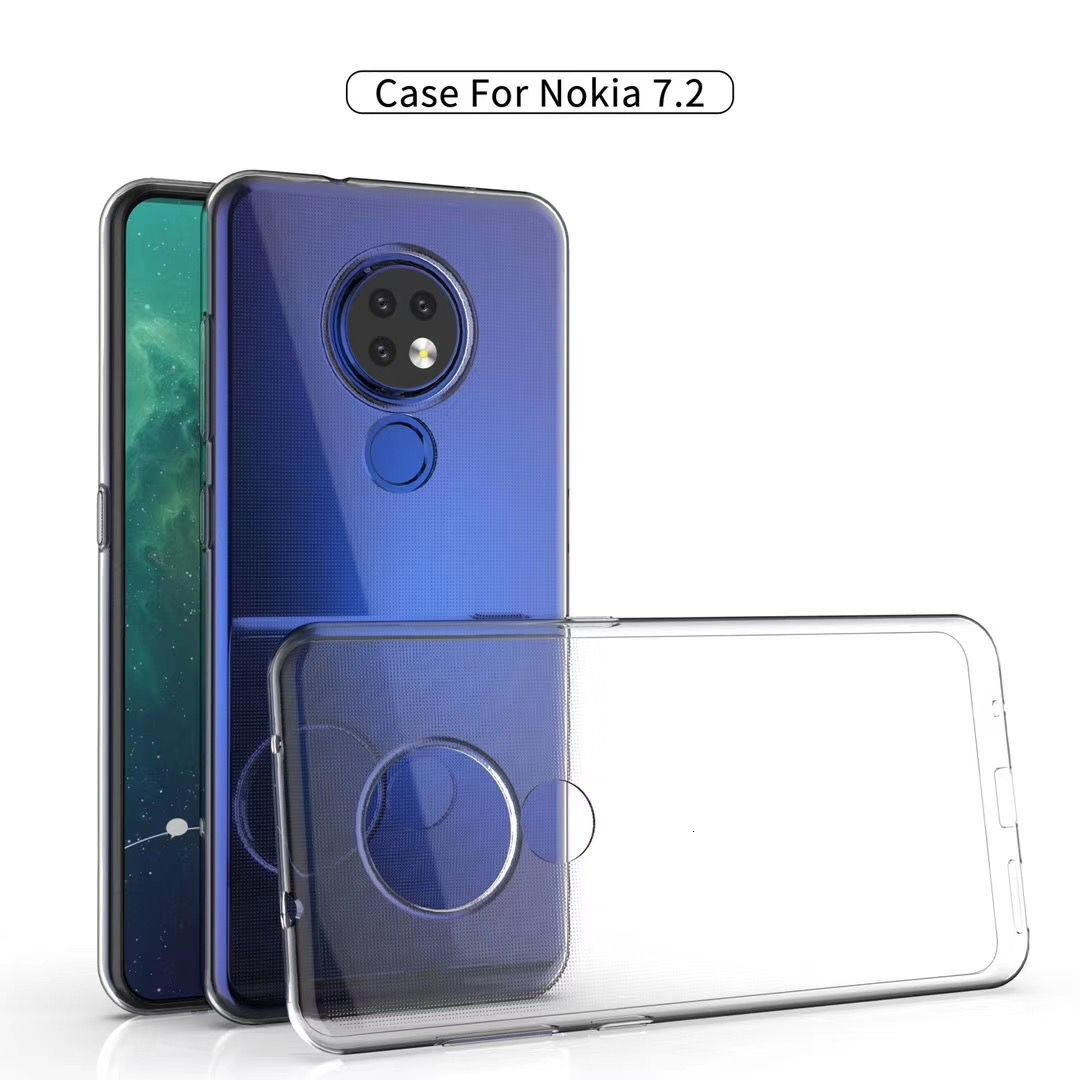 Silicone TPU <font><b>Phone</b></font> <font><b>Case</b></font> For <font><b>Nokia</b></font> 6.2 7.2 3.1C 3 5 8 6 2 7 2.1 3.1 <font><b>5.1</b></font> 7.1 Plus X5 X6 3.2 4.2 Ultra Thin Clear Soft <font><b>Cases</b></font> Cover image