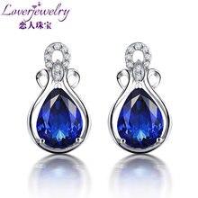Loverjewelry висячие серьги с танзанитом чистое 18 к белое золото
