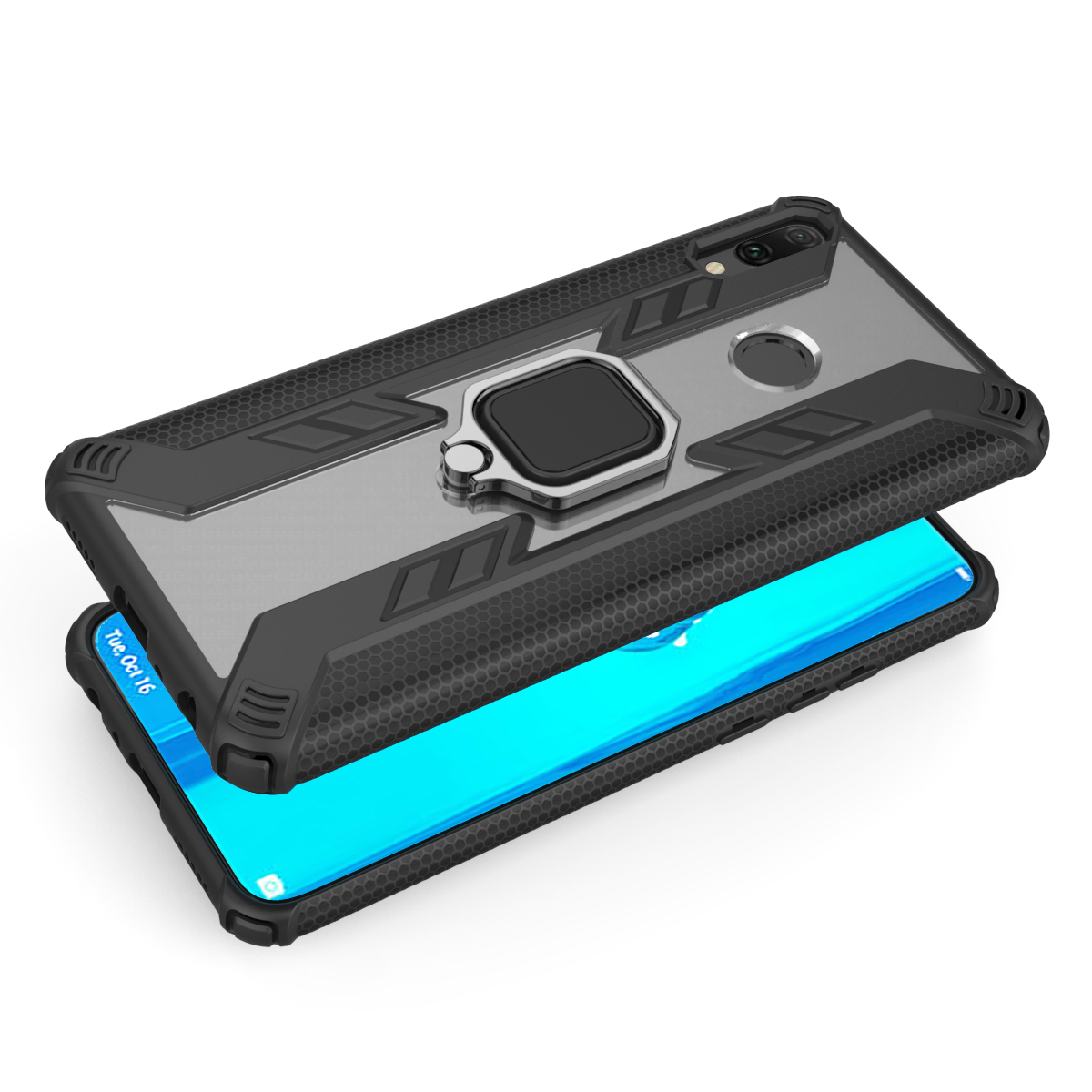 Для Huawei Smart Pro Y9 Y6 Prime P Smart (2019) Honor 20 10 Lite 10i 20i V20 роскошный противоударный чехол-подставка для пальца