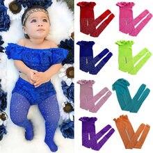 Meia calça elástica pudcoco, meia calça de malha para criança