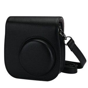 Image 4 - Deri kamera askısı çantası telefon koruyucu koruyucu omuz askısı Polaroid fotoğraf kamerası Fuji Fujifilm Instax Mini8 8 + 9