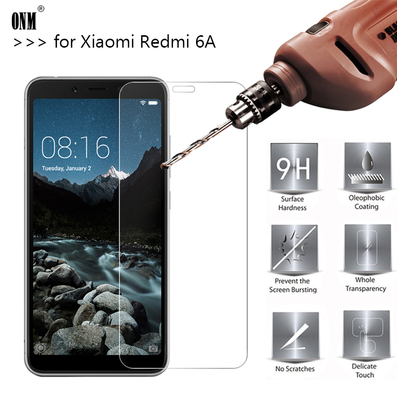 2.5D 0.26mm 9H Premium Tempered Glass For Xiaomi Redmi 6A Screen Protector Toughened Protective Film For Xiaomi Redmi 6A 5.45