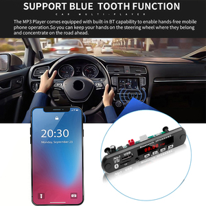 Image 5 - Kebidu Bluetooth handsfree araç kiti MP3 çalar dekoder kurulu FM radyo TF USB 3.5 Mm AUX ses için araba için iphone Android telefon