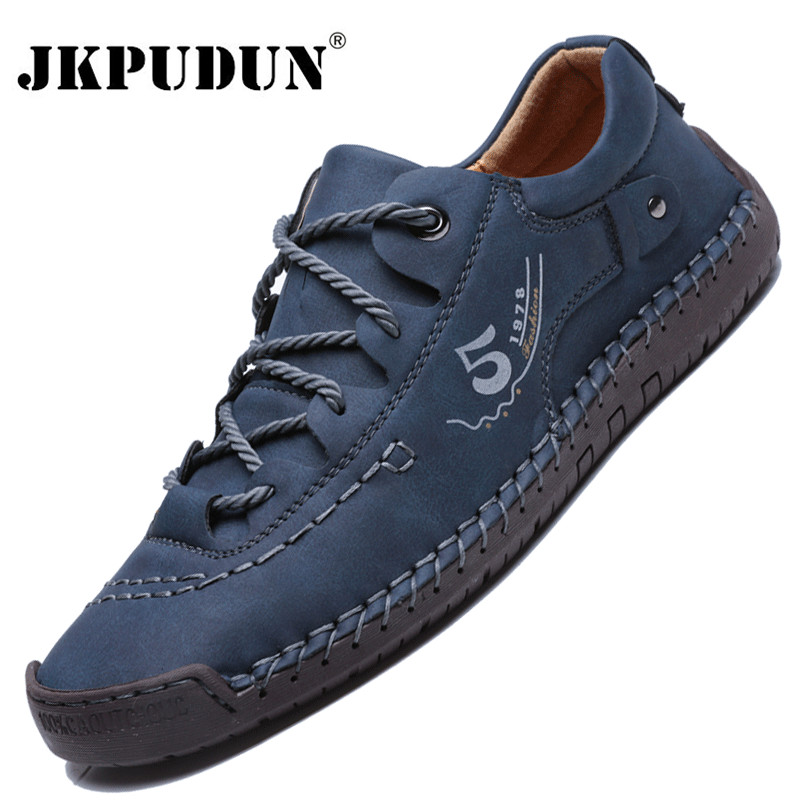 Men Sneakers Fashion Men Casual Shoes Leather Handmade Breathable Man Shoes Lightweight Mens Loafers Moccasins Adult Footwear