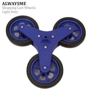 ALWAYSME Shopping-Cart-Wheels Stair-Climbing for Hole-Diameter 1PCS Replacement Light-Duty