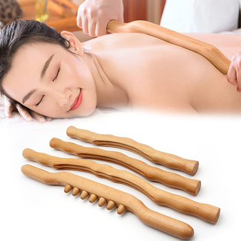 4Pcs Scraping Stick beech wood Back Shoulder Neck Waist Leg Massage Tools Fat burner Meridian Brush Slim cellulite massager Rod
