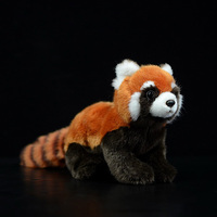 New 1PC 23cm Realistic Toy Red Panda Bear Cat Lifelike Soft Toys Plush Lesser Panda Doll for Kids Gifts