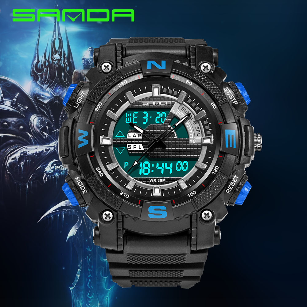 Teenagers Outdoor Sport Wristwatch Japan Movement 30m Waterproof Extremely Long Battery Life Male Student Boy Men Digital Watch