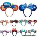 Disney Mickey Maus Ohr Stirnband Disneyland Haar Hoop Meerjungfrau Prinzessin Peter Pan Kopfschmuck Party Headwear Mädchen Spielzeug Geburtstag Geschenk
