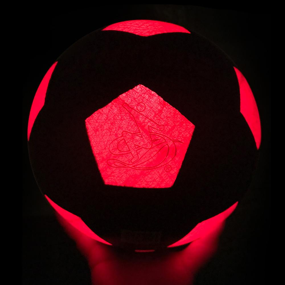 LED Soccer Trainer Ball Light Up Football Training Glows Hi-Bright Football Soccer In The Dark With LED For Man Teen Boy
