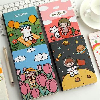 Bu's Book Daily Planner Cute Grid Papers Agenda Study Notebook Pocket Diary Freenote Journal  Gift green leaves slim beautiful hard cover notebook pocket journal diary grids papers freenote