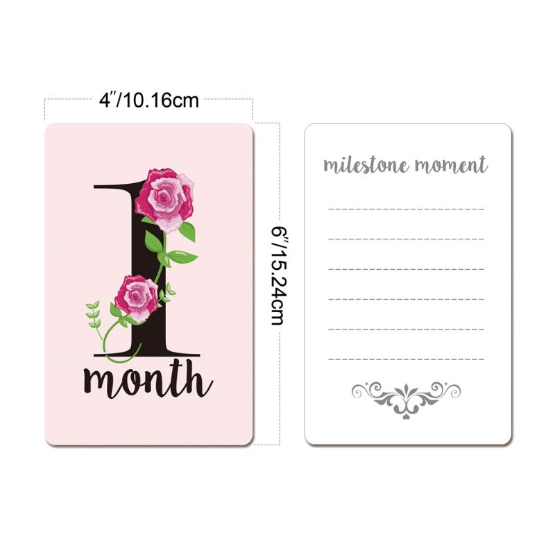 12 Sheet Baby Milestone Photo Cards Landmark Moment Photo Cards Key Age Markers